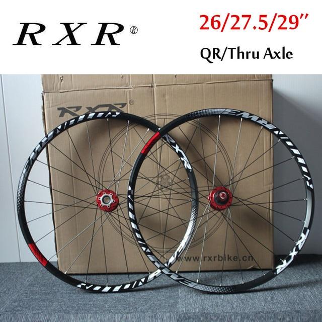 """RXR دراجة هوائية جبلية عجلات 27.5 """"26"""" 29 """"دراجة نارية دراجة عجلة 7 11 سرعة العجلات الأمامية الخلفية إطار عجلة مجموعات تناسب شيمانو SRAM كاسيت"""