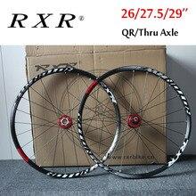 """RXR ruedas de bicicleta de montaña de 27,5 """"26"""" 29 """", rueda de bicicleta de montaña 7 11 Spee, juego de ruedas delanteras y traseras, compatible con Shimano SRAM Cassette"""