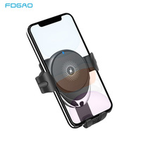 FDGAO Car Mount 10W Qi Wireless Charger In Car Air Vent Phone Holder For iPhone 11 Pro XS Max X XR Fast Wireless Charging Stand
