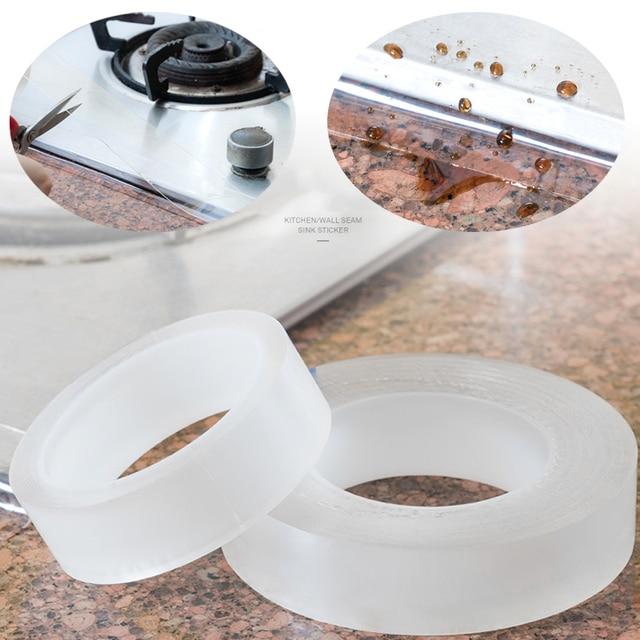 Autocollant acrylique Transparent salle de bain | Étiquette étanche, ligne dangle, autocollant dévier, 20mm * 3m
