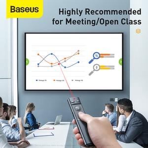 Image 4 - Baseus مقدم لاسلكي القلم 2.4Ghz USB C محول يده مؤشر التحكم عن بعد الأحمر القلم باور بوينت نقطة عرض مؤشر