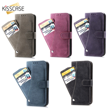 KISSCASE تدور فتحات بطاقة محفظة حافظة للآيفون 11 برو XR X XS ماكس 8 7 6 6S زائد متجمد غطاء ماتي بولي Case حقيبة جلدية الهاتف حقيبة