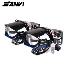 Sanvi Newes 2.5นิ้วBi LEDเลเซอร์โปรเจคเตอร์เลนส์ไฟหน้า12V 5500K 100W Auto LEDไฟหน้าโปรเจคเตอร์ไฟหน้ารถติดตั้ง