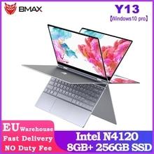 BMAX Y13 360° Laptop 13.3 inch Notebook Windows 10 Pro 8GB LPDDR4 256GB SSD 1920*1080 IPS Intel N4120 touch screen laptops