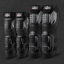 Protector Motorcycle-Elbow-Pads Guard Armors-Set Knee-Pads Rodillera MTB And Black