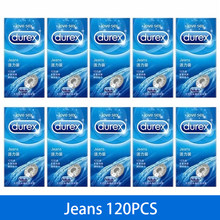 Durex Condoms 12/120 Pcs Ultra Thin Jeans Straight-walled Condoms Natural Latex Extra Lubricated Condones Sex Toys for Adults