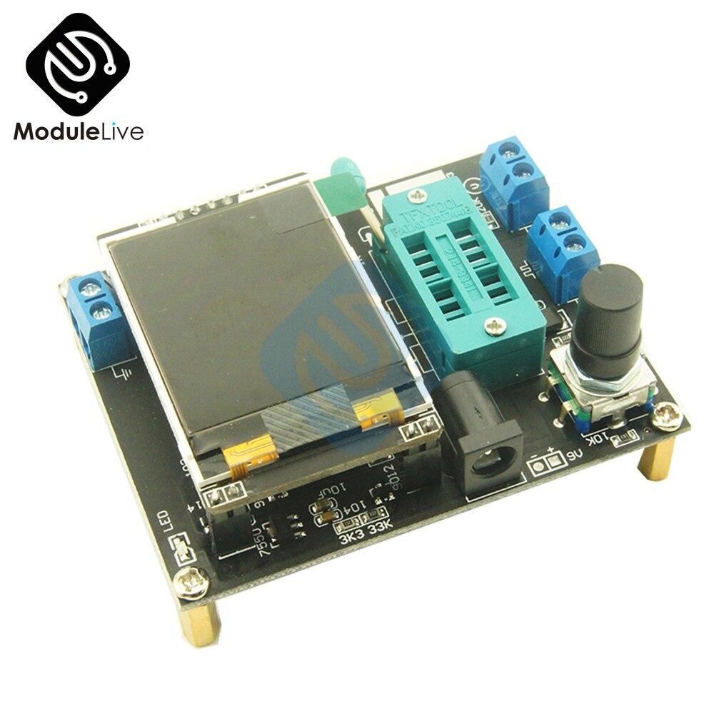 Lcd GM328A Transistor Tester Diodo Generatore di Segnale Ad Onda Quadra di Frequenza Della Tensione di Capacità Esr Inglese Versione Russa