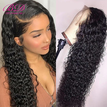 BD HAIR 13X6 Curly Lace Front Human Hair Wigs Indian Long Re