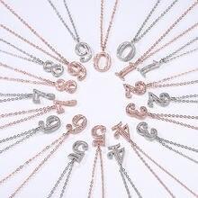 Позолоченное тонкое ожерелье с белыми цифрами циркониевый камень