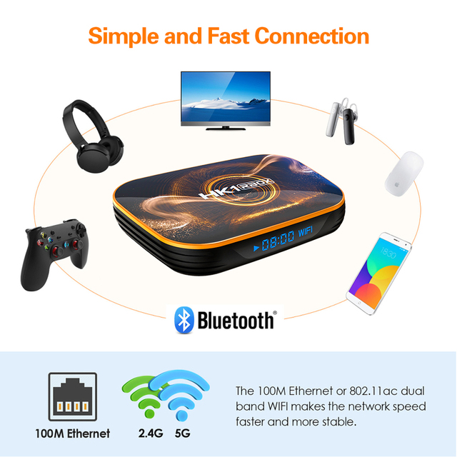 2020 Hottest HK1 RBOX Smart Tv Box Android 10.0 Tv Set top box 4K 2gb 4gb 16gb 32gb 64gb Quad Core media player