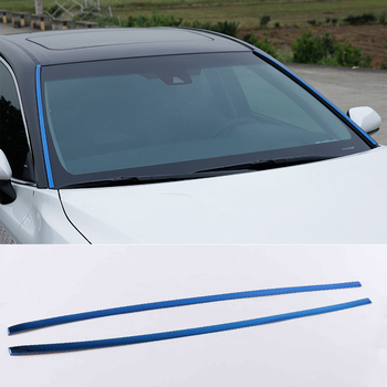 lsrtw2017 blue silver car front window trims for toyota camry xv70 2018 2019 2020 stainless steel styling auto accessories