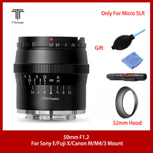 TTArtisan 50mm f1.2 APS-C Lens for SONEY E FUJI X CANON M43 Mount Camera Large Aperture,Get rid of a cluttered background