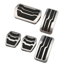 Pad Car-Pedal-Cover Stainless-Steel Ford-Focus-2-3-4-Mk2 Kuga MK3 MK4 RS Escape MT AT