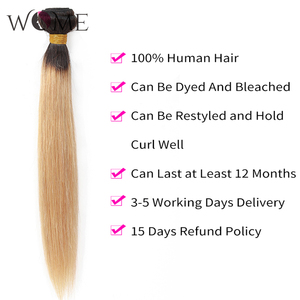 Image 3 - Kadın ön renkli saç demetleri brezilyalı düz saç gölgeli insan saçı demetleri 1b/99j 1b/27 1b/30 iki tonlu Ombre olmayan remy saç