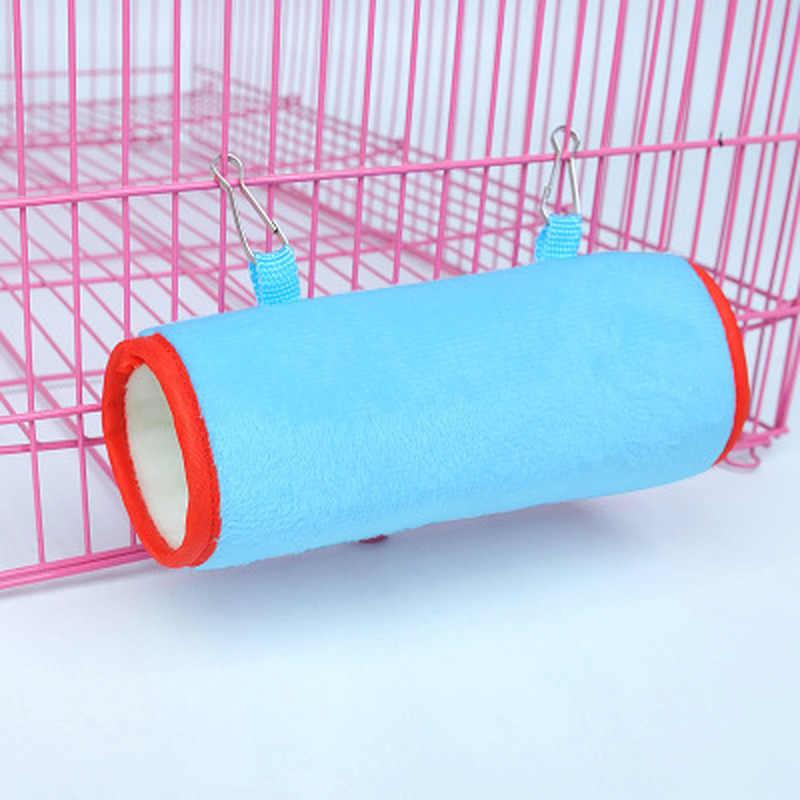1pc hamak klatka Hamster wiszące dom spanie gniazdo łóżko dla zwierząt szczur zabawki dla chomika klatka huśtawka Pet Banana projekt małe zwierzęta