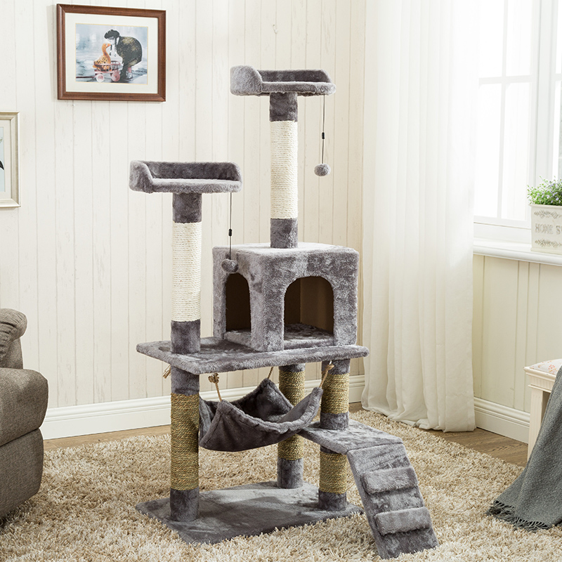 <font><b>Cat</b></font> Climbing Frame Sisal Litter <font><b>Tree</b></font> One <font><b>Large</b></font> Jumping Platform Shelf Supplies image