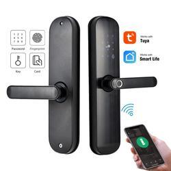 FREECAN Tuya Smart Vingerafdruk Slot, Security Intelligent Lock Met WiFi APP Wachtwoord RFID Unlock, Elektronische Biometrische Lock