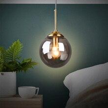 купить Nordic Glass Iron Pendant Lights Lamp  Decorative LED Lamps Pendant Lighting Living Room Dining Room Bedroom Loft Hanging Lamp по цене 2798.69 рублей
