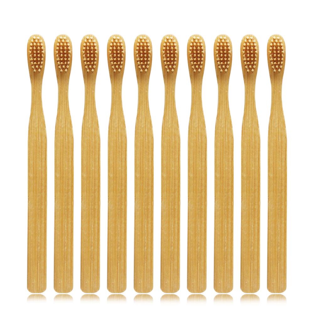 Bamboo Toothbrush Adult Toothbrushes Soft Tootbrush Environmental Toothbrush Soft Bristles Pack Of 10