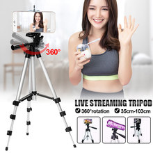 Universal Portable Tripod 4 Sections Tripod+Phone Holder Camera Holder Smartphone for Youtube Makeup Video Live(China)