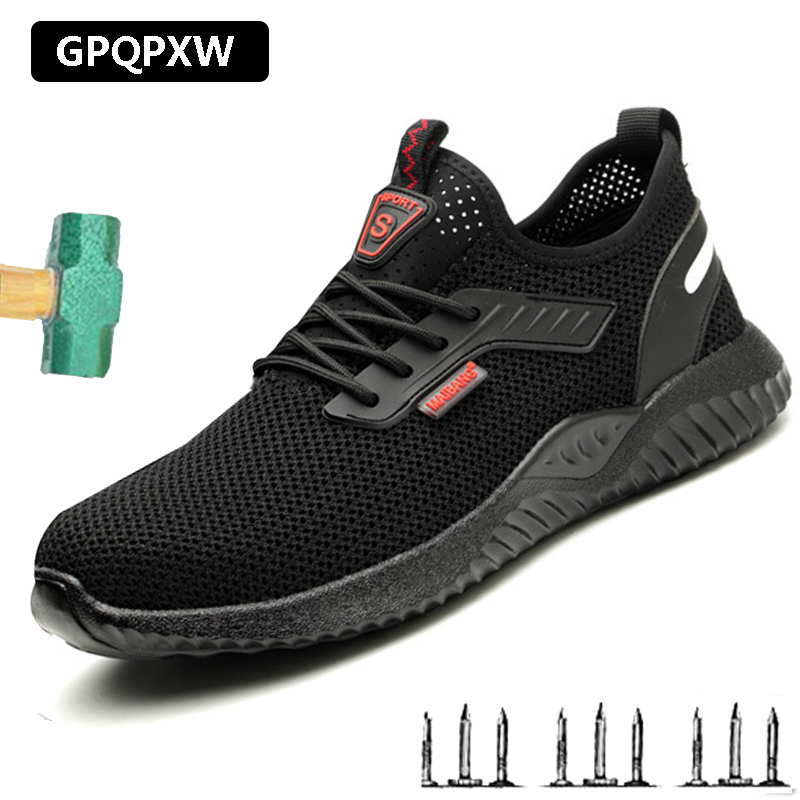 Men's Steel Toe Caps Shoes  Breathable Wear-resistant Deodorant Lightweight Work Boots Anti-smashing Anti-piercing Safety Shoes