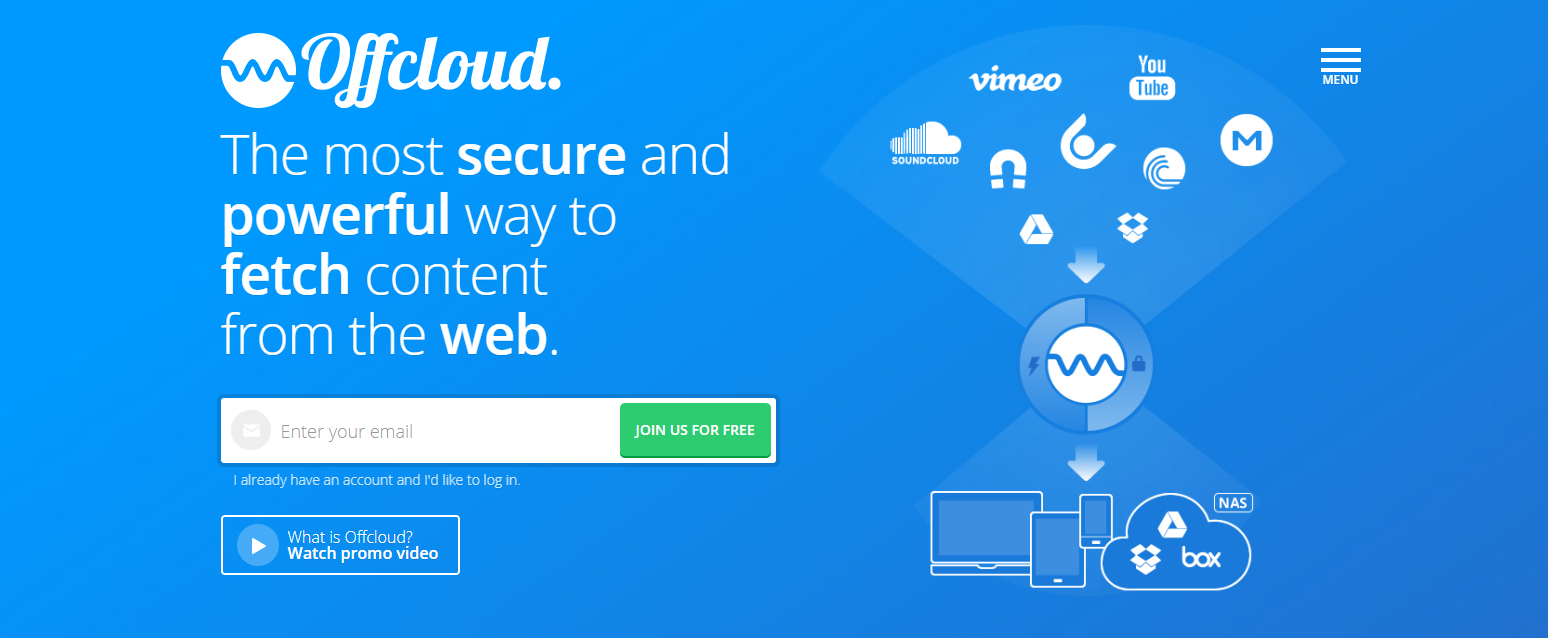 OFFcloud免费10GB空间, 可用于BT种子离线下载服务