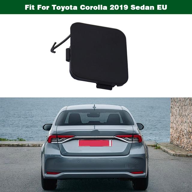 1 Pcs Rear Bumper Tow Hook Eye Cover Cap Unpainted 52161-02080 Fit for Toyota Corolla 2019 Sedan EU