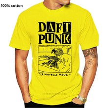Daft Punk de La Nouville Vague T-Shirt Nouveauté Dessus Frais Hommes Manches Courtes T-Shirt o-cou T-Shirt Petit Haut T-Shirt