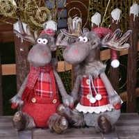 2020 Año Nuevo navidad muñecos de renos adornos navideños para el hogar alce juguete estatuilla Natal Feliz navidad adornos de navidad
