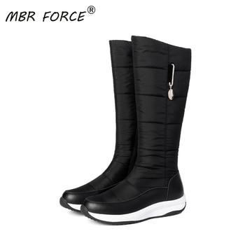 Μπότες γυναικείες ψηλές κάτω από το γόνατο ζεστές αδιάβροχες μαύρο κόκκινο άσπρο