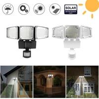 New 188 LEDs High Lumen LED Flood Light Intelligent Solar Floodlight IP65 Waterproof Outdoor Garden Motion Sensor Spot Lamps