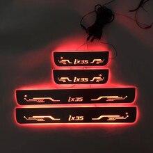 4 шт./применимо к ix35 потокового цвета светодиодные лампы дверные пороги Добро пожаловать педаль/динамическое освещение порог транспортного средства для daidaiix35