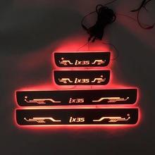 4PCS/ישים כדי ix35 הזרמת צבע LED מנורת אדני דלת דוושה מוזמן/דינמי תאורת רכב סף עבור HYUNDAIIX35