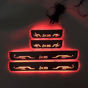 Image 1 - 4PCS/ישים כדי ix35 הזרמת צבע LED מנורת אדני דלת דוושה מוזמן/דינמי תאורת רכב סף עבור HYUNDAIIX35