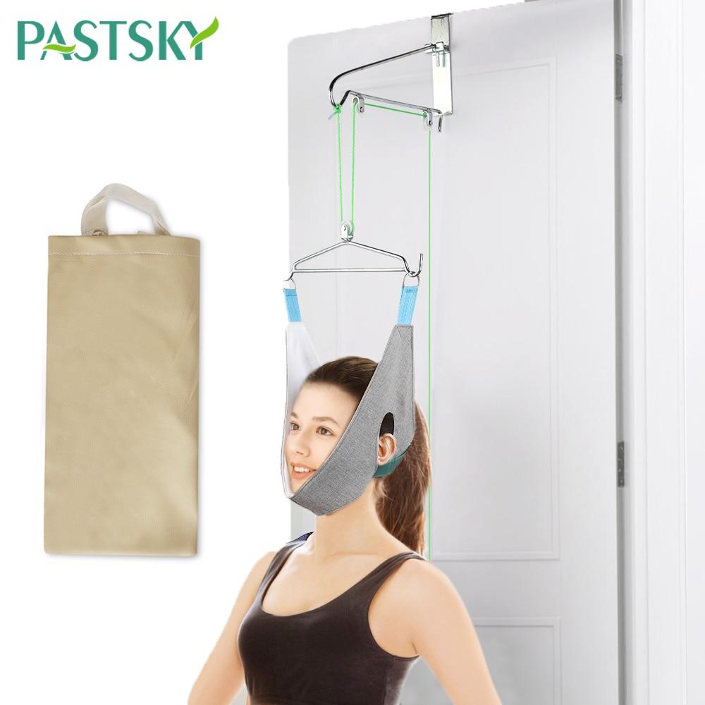 Cervical traction device home stretching medical hanging cervical spondylosis neck Correction device orthosis traction frame()