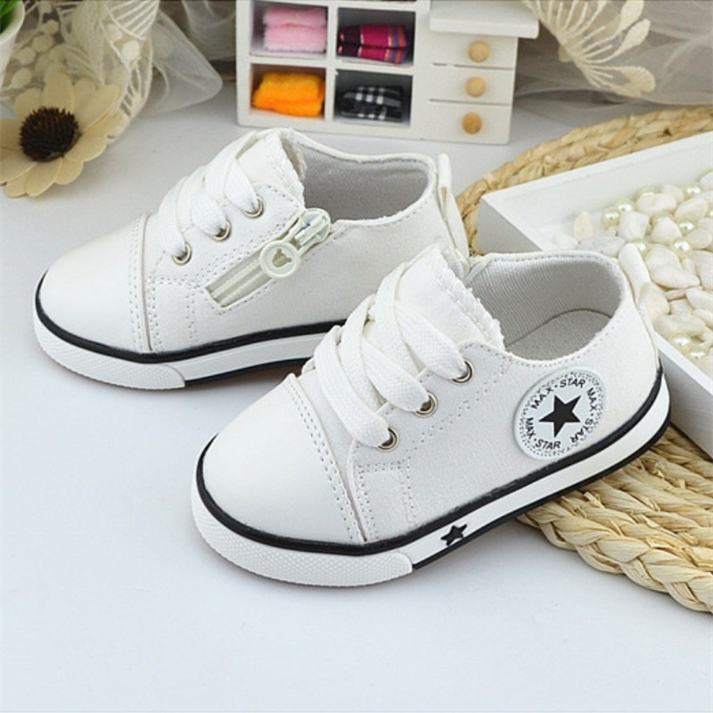 Toddler Shoes Sneakers Girls Baby Breathable Kids New Canvas 4-Color 1-3-Years-Old