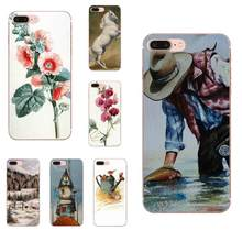Soft Covers For Huawei Honor 10 10i 20 20i 8S lite Y9 Prime Y7 2019 Y5 2018 p40 lite pro Vintage Watercolor Set(China)