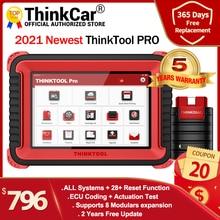 "Araç teşhis aracı THINKCAR THINKTOOL Pro 8 ""tam sistemleri ECU kodlama OBD2 kod tarayıcı aktif Test 28 sıfırlama fonksiyonu"