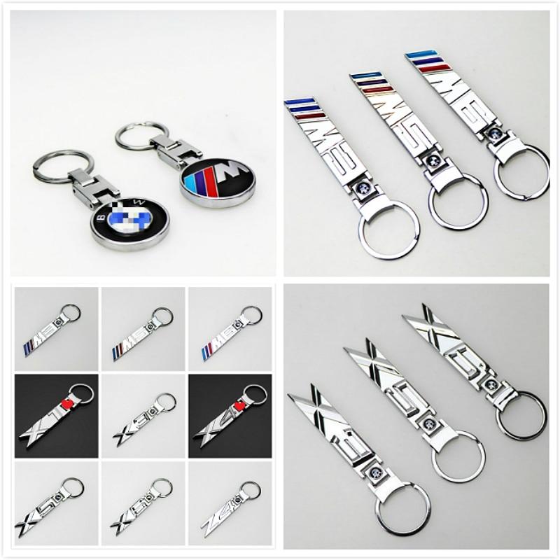 1pcs New Creative Metal Engcarving Car Logo Car Key Ring For BMW M M3 M5 M6 X6 X5 X4 X3 X1 Z4 Series Keychain Key Chain Key Ring