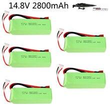 Bateria lipo para ft010 ft011 rc brinquedos barco peças 14.8 v 2800mah 4S de alta capacidade rc brinquedos bateria 14.8 v 30c 803496 t bateria plug