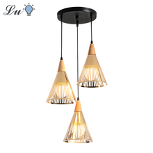 Nordic Originality LED Pendant Light Modern Simplicity Personality Three Heads Hanging Lamp Kitchen Restaurant Lighting Fixtures