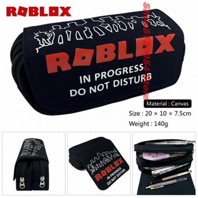 높은 품질 만화 가방 어린이 다시 학교 용품 화장품 소년 소녀 고정 된 아이 roblox 연필 케이스 가방