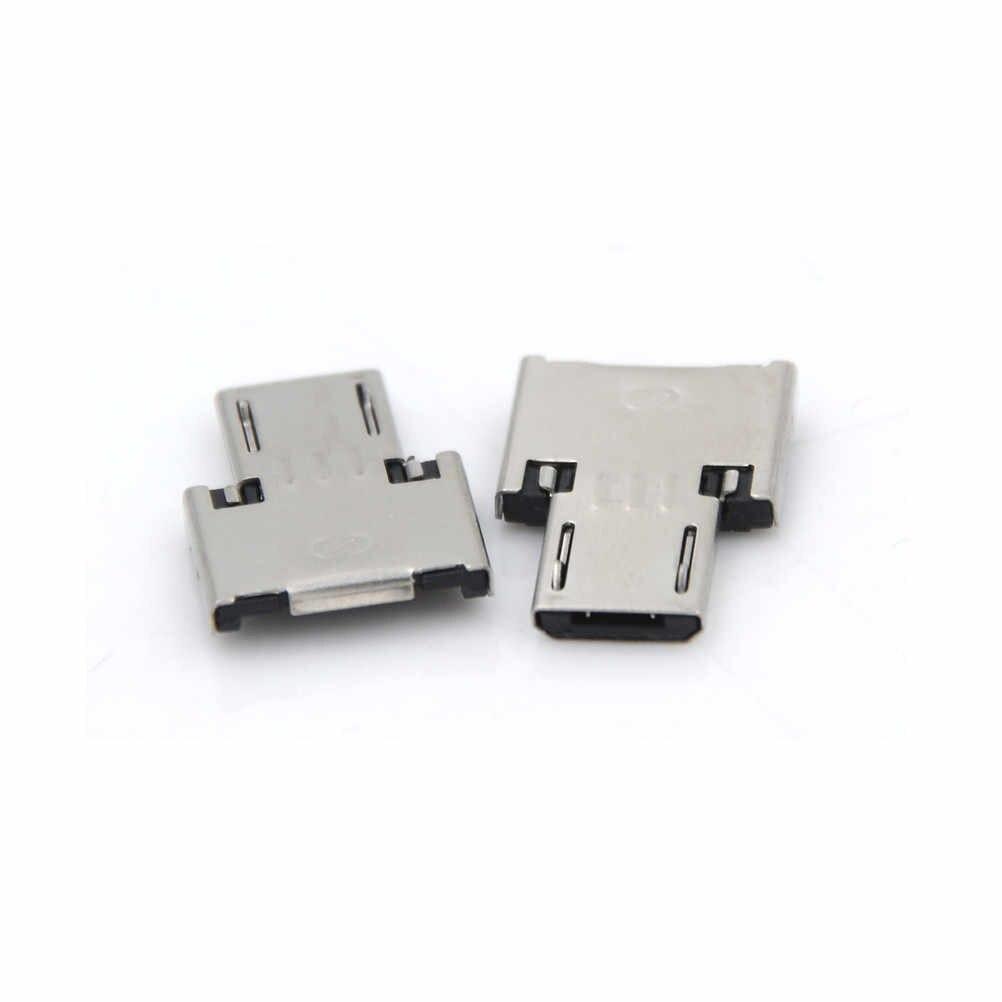 2 pçs/lote Adaptador USB Para Pen USB Flash Drive Do Telefone Móvel Adaptadores Virar Para O Telefone Android Tablet Conexões de Cabo de Interface