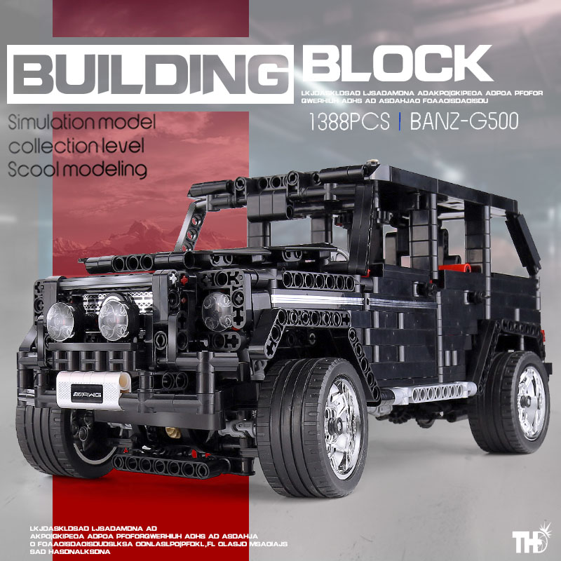 MOC Technic Off road SUV Car Compatible Merceding Benz G500 Building Blocks AWD Wagon Car Sets