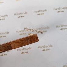 60 pièces/lot Vintage 'produits faits à la main au four 'autocollant d'étanchéité cadeaux posté emballage de cuisson décoration étiquette autocollants Scrapbooking