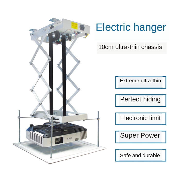 Concealed Electric Telescopic Hanger Projector Remote Control Automatic Lifting Frame 0.8 M 1 M 1.5 M Travel