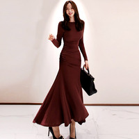 HAMALIEL 2019 Autumn Winter Irregular Long Knitted Dress Fashion Women's Long Sleeve Bodycon Stretching Female Party Sweater Vestidos