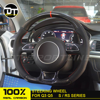 Carbon Fiber Car Customized Steering Wheel Trims Cover Caps Replacement Accessories steering wheel For Audi A4 A5 A6 A7 S5