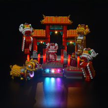 Lampu LED Kit Kompatibel Legoed 80104 Lion Dance Gaya Cina Blok Bangunan untuk Lampu Up Blok Anda Mainan (Hanya light)(China)