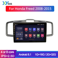 10 inch Android car radio gps navigation system For Honda freed 2008 2015 multimedia player audio stereo accessories no 2 din